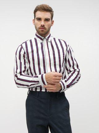 Biela pruhovaná košeľa Jack & Jones Trig