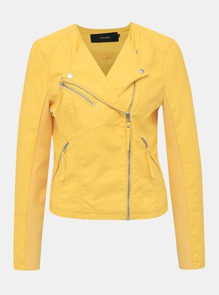Jachete din piele naturala si sintetica pentru femei VERO MODA - galben