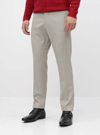 Béžové oblekové slim fit kalhoty Selected Homme Maze Saint