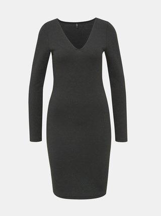 Čierne vzorované púzdrové šaty ONLY Shine