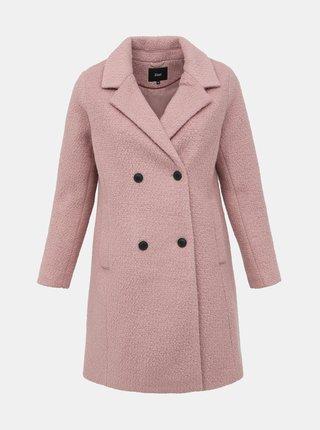 Růžový vlněný kabát Zizzi Valdine
