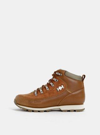 Hnedé dámske kožené členkové topánky HELLY HANSEN Forester