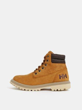 Hnedé dámske kožené nepromokavé členkové topánky HELLY HANSEN Fremont
