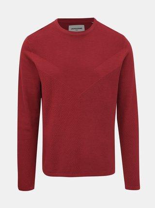 Červený basic sveter Jack & Jones Moon