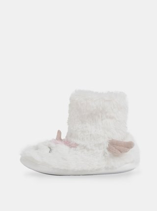 Biele papuče v tvare jednorožca Dorothy Perkins