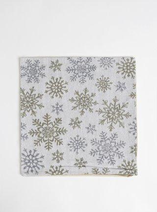 Světle šedý povlak na polštář s vánočním motivem Dakls