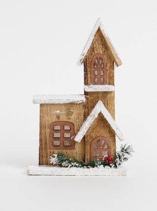 Drevená svietiaca vianočná dekorácia Dakls