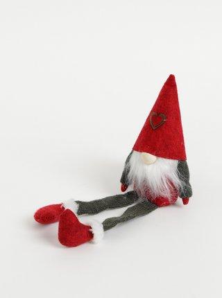 Dekorácia v tvare vianočného škriatka Dakls