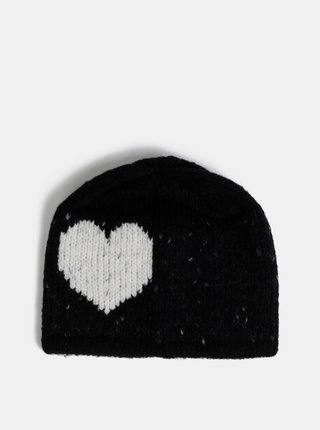 Čierna dámska čapica s prímesou vlny Maloja Annotta