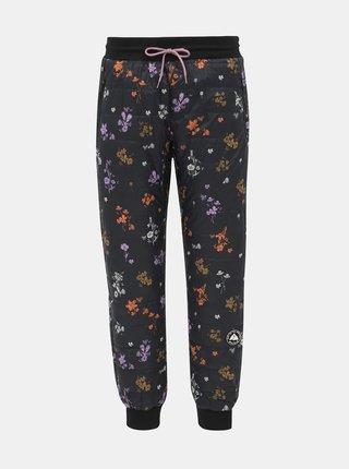 Černé květované prošívané funkční kalhoty Maloja Viturin