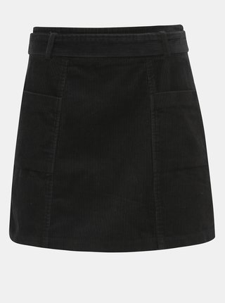 Čierna menčestrová sukňa Dorothy Perkins