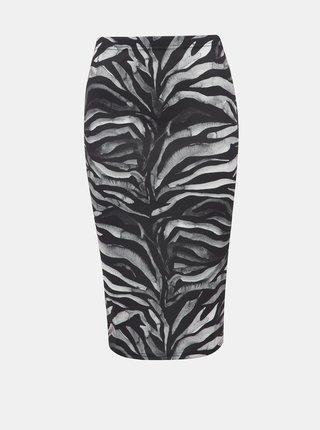 Šedo-čierna púzdrová sukňa so zebrím vzorom Dorothy Perkins