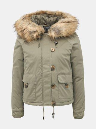Khaki krátká bunda Miss Selfridge