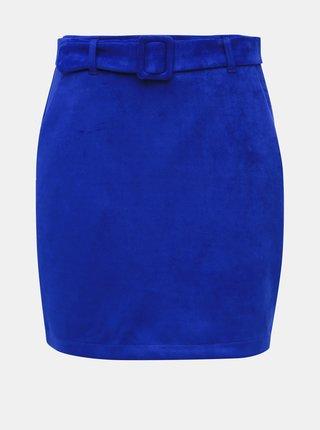 Modrá sukňa v semišovej úprave VERO MODA Chili