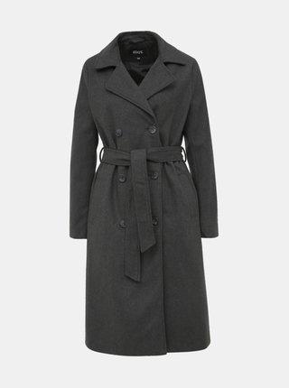 Tmavě šedý dámský kabát s příměsí vlny ZOOT