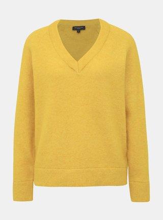 Žlutý basic svetr s příměsí vlny Selected Femme Lanna
