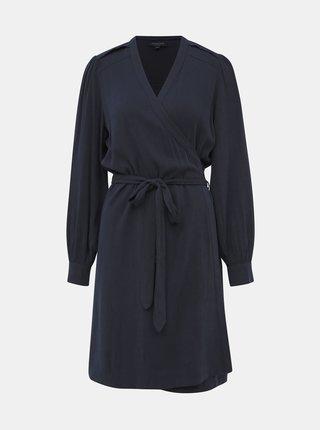Tmavě modré zavinovací šaty Selected Femme Milja