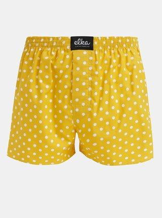 Žlté pánske bodkované trenýrky El.Ka Underwear