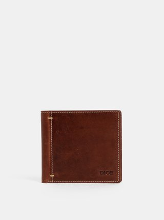 Hnedá kožená peňaženka Dice Morris