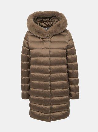 Hnědý prošívaný kabát Geox Chloo