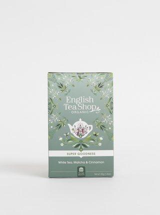 Bio biely čaj so škoricou, čajom matcha a zázvorom English Tea Shop Super Goodness
