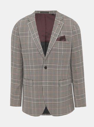 Béžové oblekové skinny fit sako Burton Menswear London