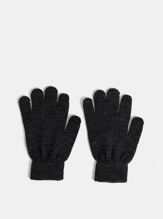 Tmavošedé rukavice Pieces New