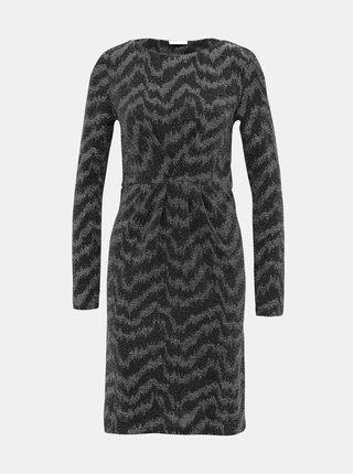 Čierne trblietavé šaty VILA Wipy