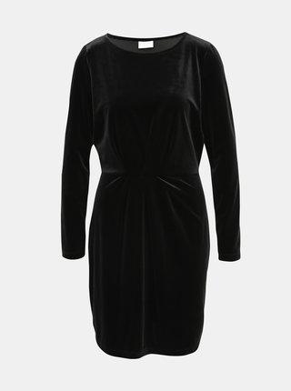 Čierne sametové šaty VILA Minny
