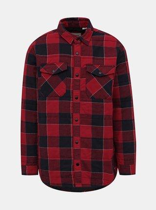 Červená kostkovaná bunda Jack & Jones Hubart