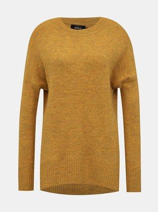 Horčicový basic sveter ONLY Nanjing