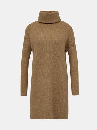 Béžové svetrové šaty ONLY Jana