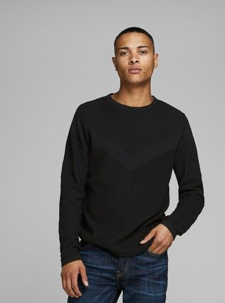 Čierny basic sveter Jack & Jones Moon