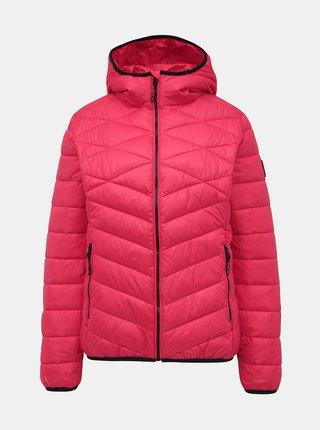 Tmavě růžová dámská prošívaná bunda SAM 73