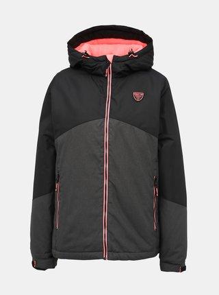 Černo-šedá dámská nepromokavá zimní bunda SAM 73