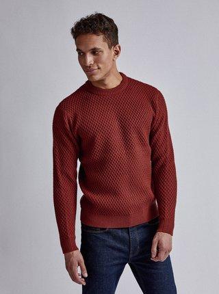 Hnědý svetr s příměsí vlny Burton Menswear London