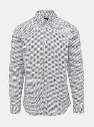 Bílá vzorovaná slim fit košile Selected Homme Michigan