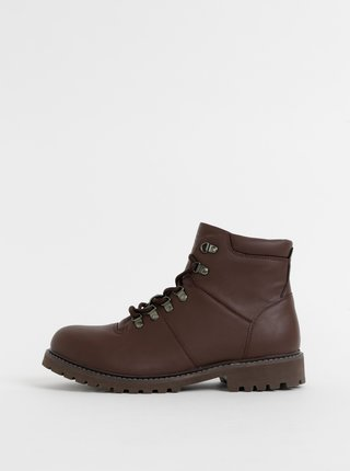 Hnedé členkové topánky Jack & Jones Beta
