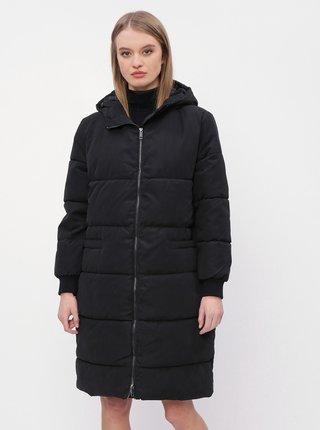 Čierny zimný prešívaný kabát Jacqueline de Yong Noble