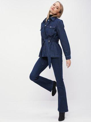 Tmavě modré flare fit džíny Dorothy Perkins Shape & Lift