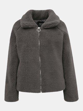 Šedá dámska bunda z umelého kožúšku Haily´s Lana