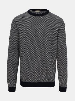 Modrý vzorovaný sveter Selected Homme Haiden