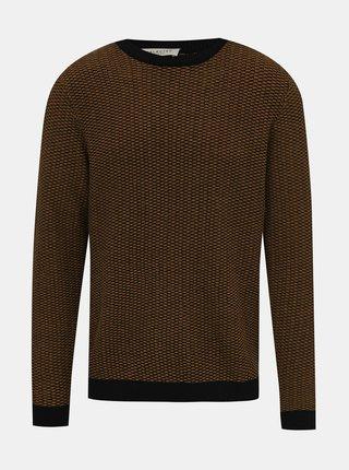 Hnedý vzorovaný sveter Selected Homme Haiden