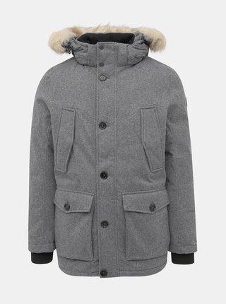 Šedá pánska zimná bunda Tom Tailor