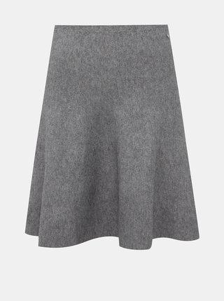 Šedá svetrová sukně Tom Tailor Denim