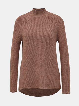 Staroružový basic sveter so stojáčikom ONLY Leva