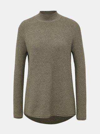 Zelený basic sveter so stojáčikom ONLY Leva