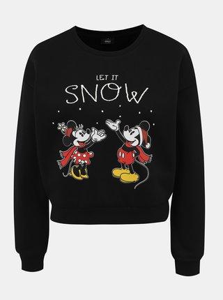 Černá mikina s vánočním motivem ONLY Disney