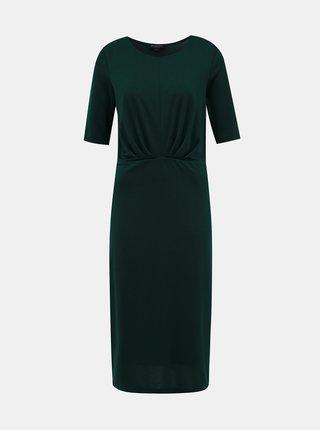 Tmavě zelené midi šaty Selected Femme Amber