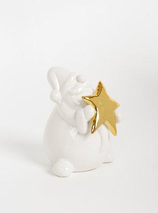 Biela vianočná dekorácia v tvare Santu SIFCON